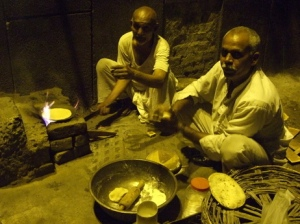 Interview subject Umrao Singh at his cookfire on the street