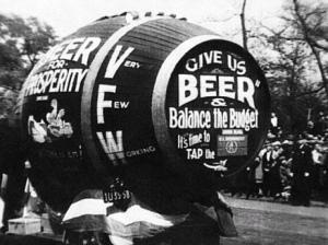 An anti-Prohibition parade float circa 1925.