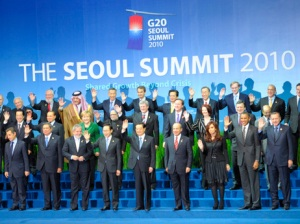 Members of the G20 at a 2010 meeting