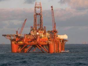 an oil platform in the Norwegian Sea